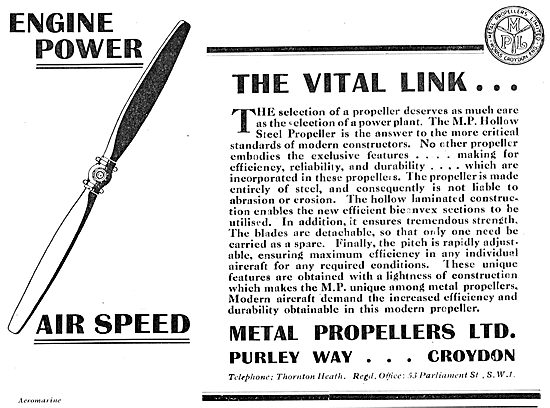 MP Metal Propellers - The Vital Link
