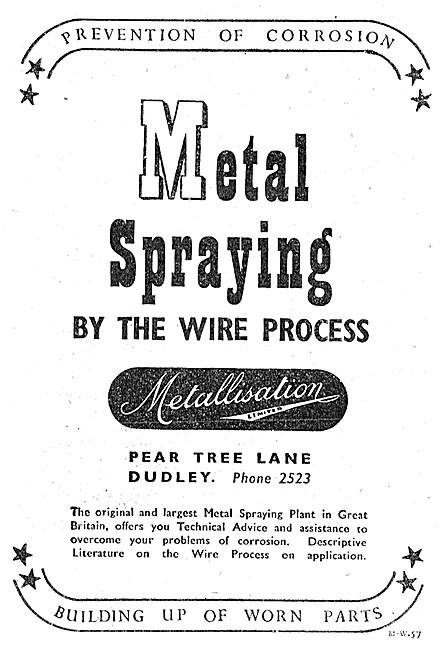 Metallisation Aluminising Wire Process Metal Spraying