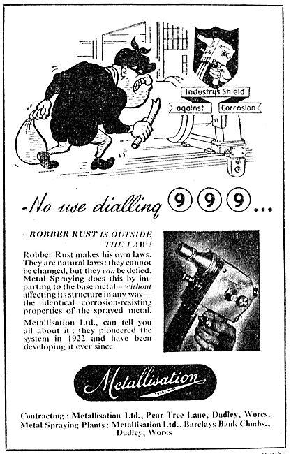 Metallisation Metals Anti-Corrosion Spray Coating Process  1949