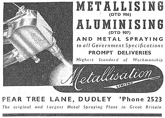 Metallisation Metallising & Aluminising 1940