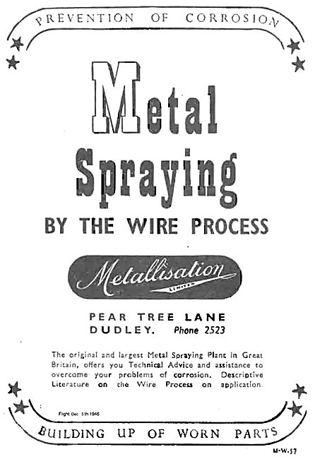 Metallisation Metal Spraying By The Wire Process