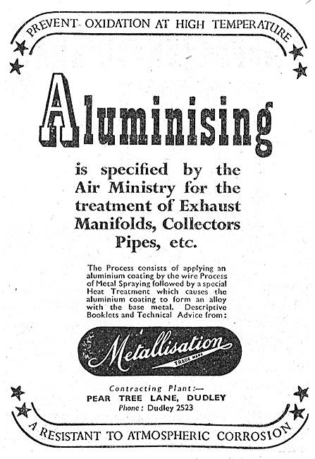 Metallisation Alumnising Metal Spraying Process
