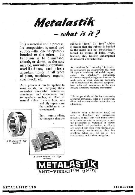 Metalstik Anti-Vibration Mountings & Couplings