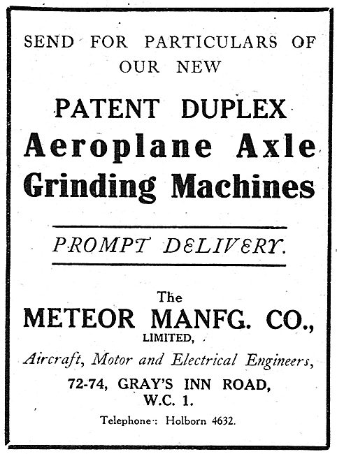 Meteor Manufacturing Company - Axle Grinding Machines