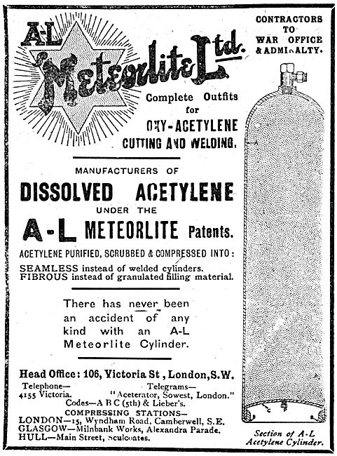 A-L Meteorlite Ltd -  Dissolved Acetylene For Cutting & Welding