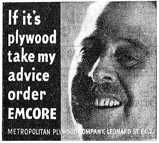 Metropolitan Plywood Co. Emcore Plywood. 1942 Advert