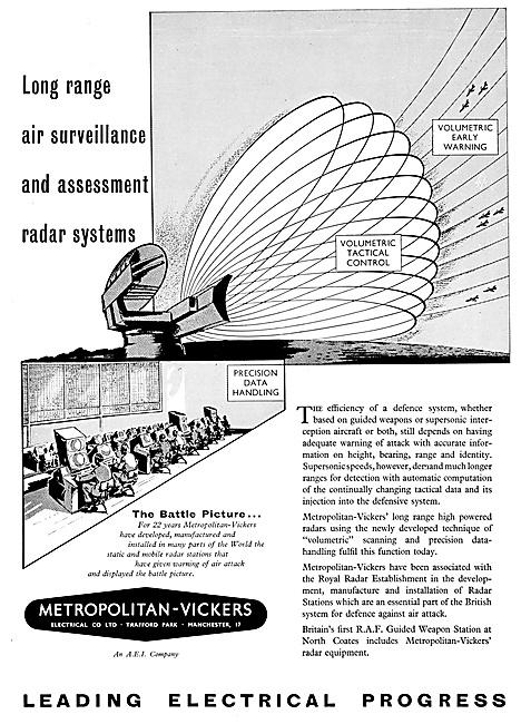 Metropolitan Vickers. Metrovick Surveillance Radar Systems
