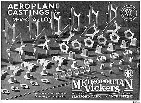 Metrovick Aeroplane Castings In MVC Alloy