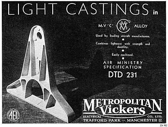 Metrovick Aircraft Castings
