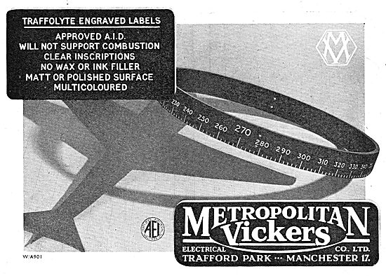 Metrovick Traffolyte Engraved Labels