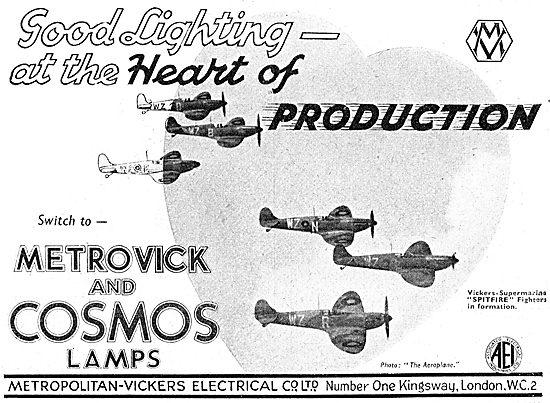 Metrovick & Cosmos Aircraft Lamps