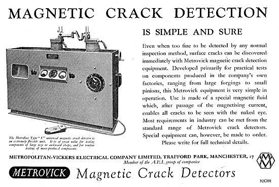 Metrovick NDT Magnetic Crack Detection Equipment
