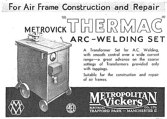 Metrovick Thermac Arc Welding Set
