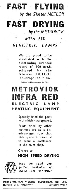Metrovick Infra Red Electric Lamp Heating Equipment