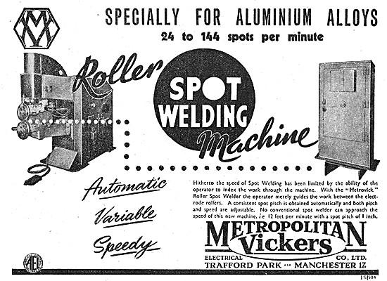 Metrovick Spot Welding Equipment