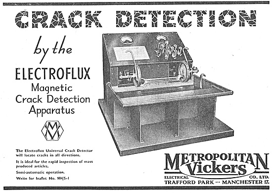 Metrovick Electroflux Crack Detection Apparatus