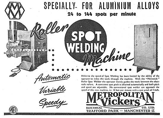 Metrovick Roller Spot Welding Machine