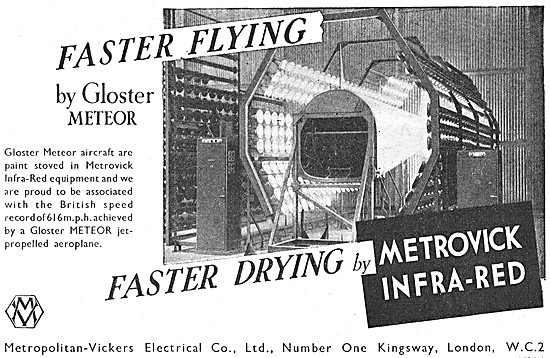 Metrovick Infra-Red Drying Equipment