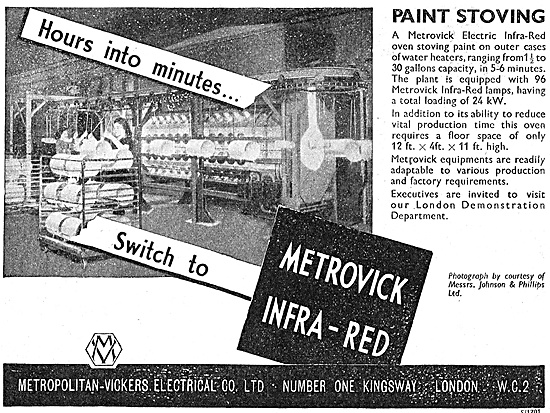 Metrovick Infra-Red Paint Stoving Equipment