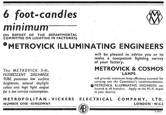 Metrovick & Cosmos Lamps Metrovik Illuminating Engineers