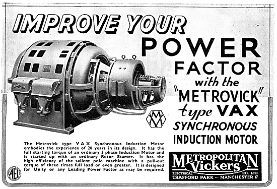 Metrovick VAX Synchronous Induction Mootor