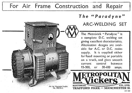 Metrovick Paradyne Arc-Welding Set