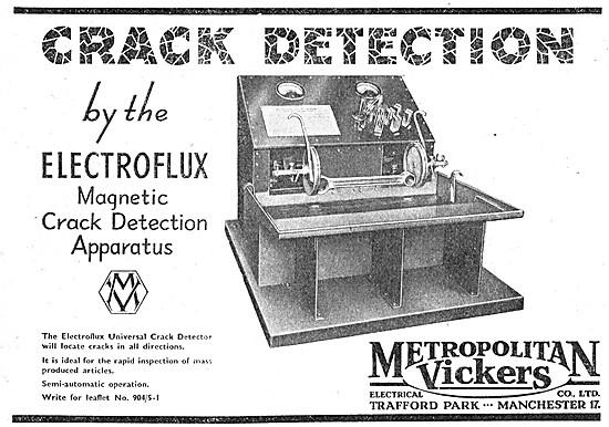 Metrovick ELECTROFLUX Crack Detection Apparatus NDT