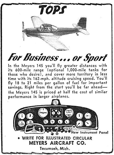 Meyers Aircraft. Meyers 145