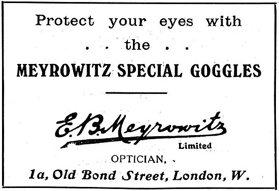 Aviators Protect Your Eyes With Meyrowitz Special Flying Googles