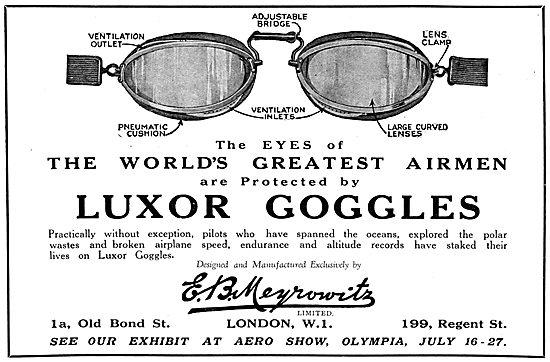 Meyrowitz Luxor Flying Googles 1929
