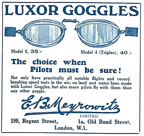 Meyrowitz Luxor Googles - The Choice When Pilots Must Be Sure