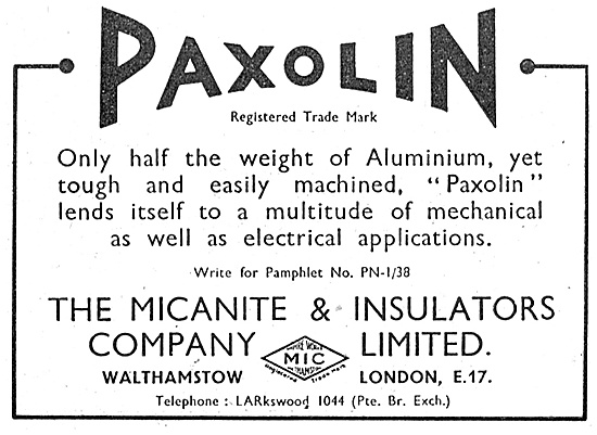 Micanite & Insulators.Paxolin