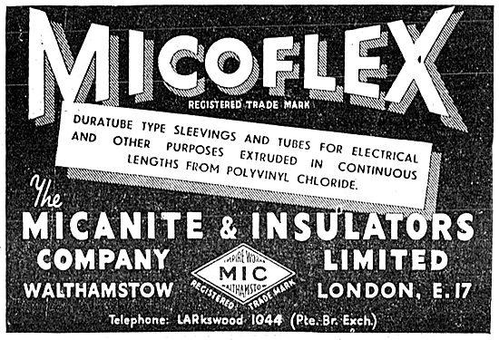 Micanite & Insulators. Micoflex Duratube 1943