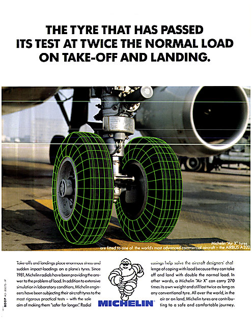 Michelin Aircraft Tyres - Michelin Air-X Tyres 1990