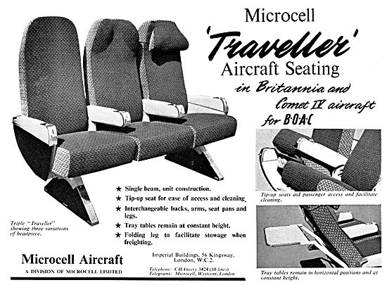 Microcell Aircraft Seating 1958