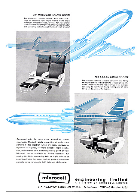 Microcell Aircraft Seating 1960