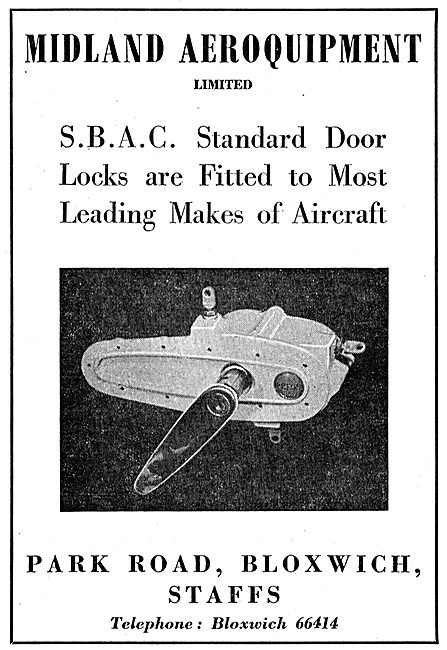 Midland Aeroquipment SBAC Door Fittings & Locks