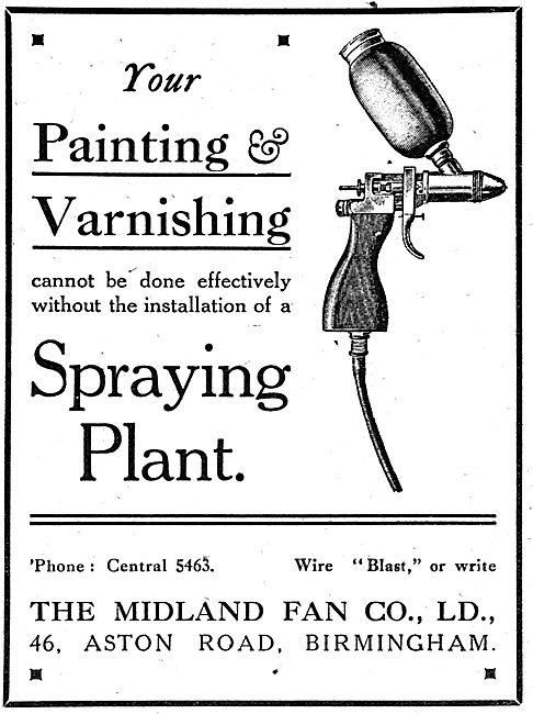 Midland Fan Painting & Varnishing Spraying Equipment