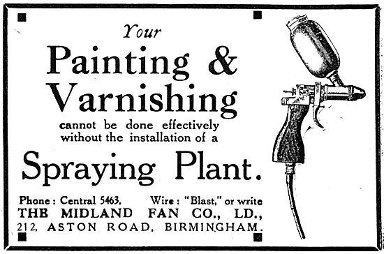 Midland Fan Painting & Varnishing Spraying Plant. 1919