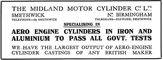 Midland Motor Cylinder Manufacturers Of Aero Engine Cylinders