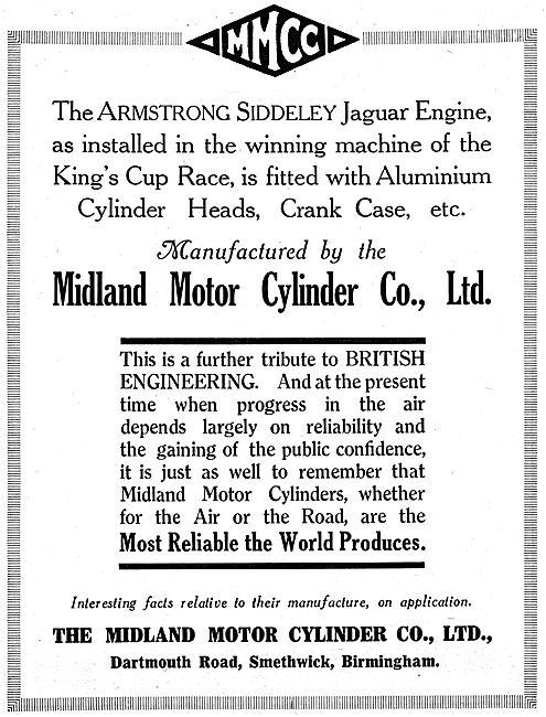 Midland Motor Cylinder -  Aero Engine Cylinders & Crank Cases