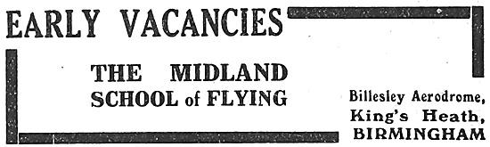 The Midland School Of Flying Kings Heath Birmingham