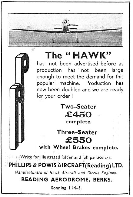 Miles Hawk Two Or Three Seater Aircraft