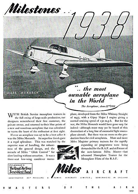 Miles Milestones : 1938 Miles Monarch