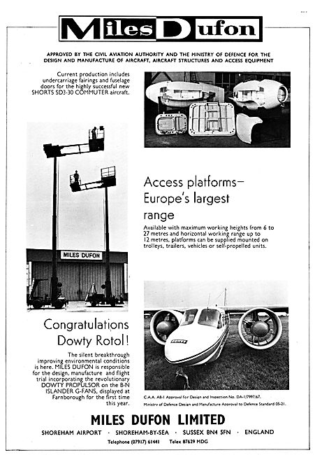 Miles Dufon Aviation Products & Servicing Access Platform s