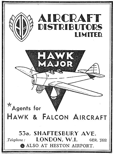Miles Hawk - Aircraft Distributors Ltd Heston
