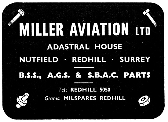 Miller Aviation - BSS,AGS,SBAC & A.N.Parts
