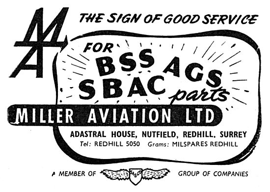 Miller Aviation - BSS,AGS,SBAC . Redhill