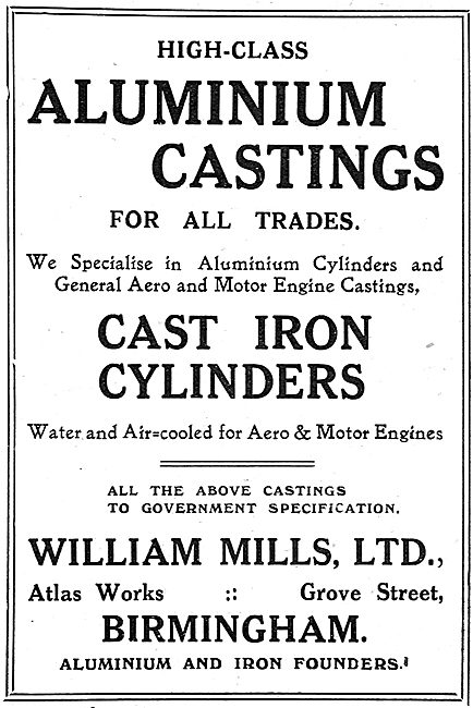 William Mills Cast Iron Cylinders For Engines