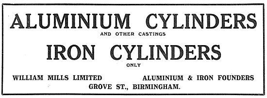 William Mills Aluminium & Iron Cylinders For Aircraft Work